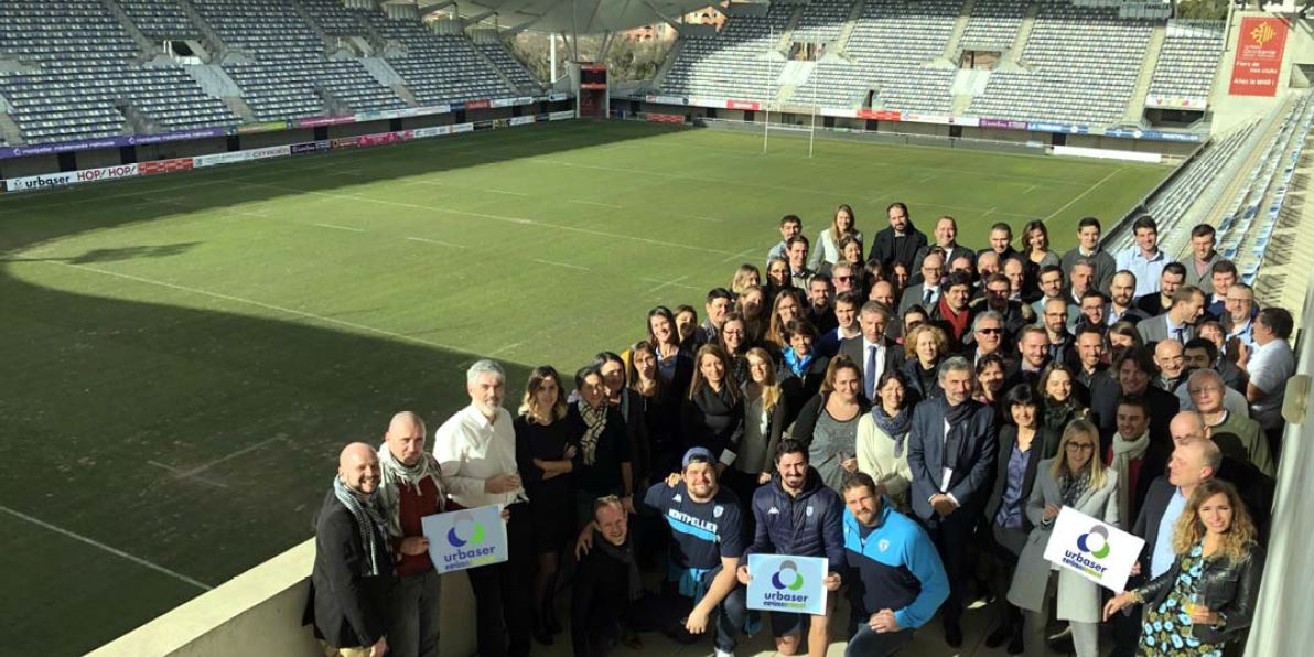 Urbaser Environnement Team at the GGL Stadium - January 2019