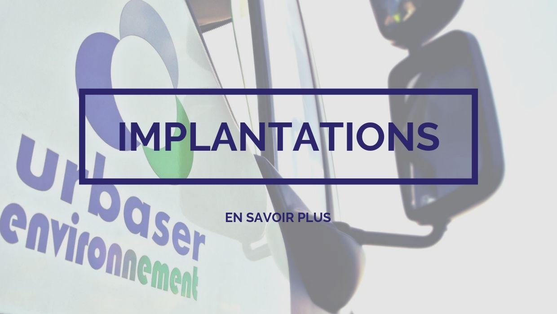 Urbaser Environnement - Implantations